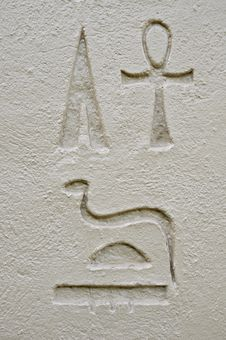 Ancient Egyptian Hieroglyphics Royalty Free Stock Image
