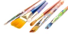 Free Artistic Paint Brushes Royalty Free Stock Photo - 6639775