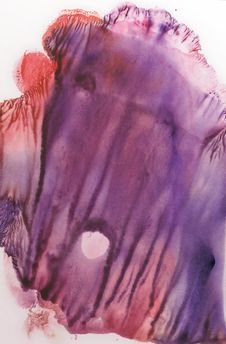 Cards Of Rorschach Inkblot Test. Blue, Purple, Violet And Red Watercolor Blotch. Stock Photography