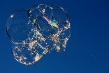 Free Airborne Bubble Cluster Stock Image - 66375371