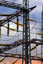 Free Distribution Substation Insulators Stock Photography - 6641582