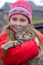 Free Young Girl With Kitty Royalty Free Stock Image - 6645936