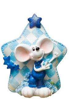 Mouse Agains A Big Star Souvenir Royalty Free Stock Photos
