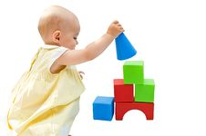 Free Little Baby Girl Playing With Her Toys Royalty Free Stock Photography - 6640337
