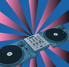 Free Turntable Royalty Free Stock Photography - 6640817