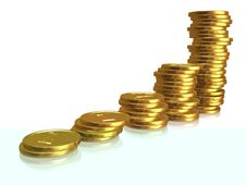 Free Golden Coins Stock Photo - 6641180