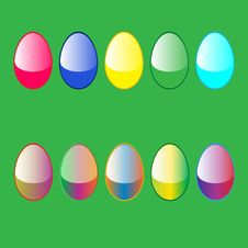 Free 10 Easter Eggs Stock Image - 6641801