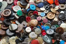 Free Vintage Clothes Buttons Royalty Free Stock Photography - 6642417