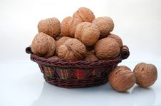 Free Basket With Walnuts Royalty Free Stock Photo - 6642445