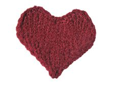 Free Cherry Knitted Heart Stock Images - 6643544