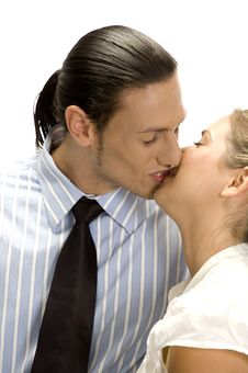 Free Kissing Couple Posing Stock Photography - 6643662