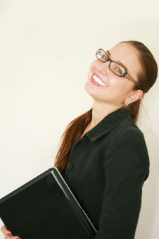 Free Business Woman With A Notebook Stock Image - 6644161