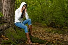 Free Woman On Forest Stock Photography - 6644362