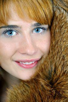 Free Woman In Fox Fur Royalty Free Stock Image - 6644416