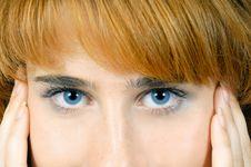 Behind Blue Eyes Royalty Free Stock Photo