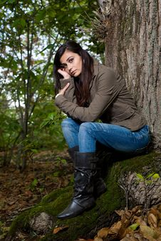 Free Woman On Forest Stock Images - 6644554