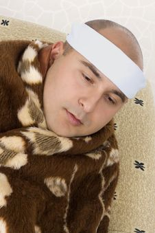 Very Sick Young Man Royalty Free Stock Images