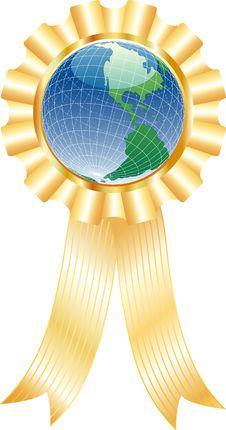 Globe With Ribbon Stock Photo