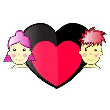 Free Boy And Girl In Love Illustration Vector Royalty Free Stock Photo - 6644795