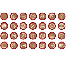 Free Web Icons Buttons Royalty Free Stock Photo - 6644805