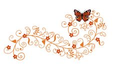 Pattern With Butterfly Royalty Free Stock Photos