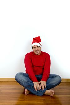 Free Young Man With Santa Claus Hat Stock Photo - 6646750