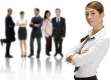 Free Businesswoman Near Group Royalty Free Stock Photo - 6646795