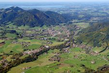 Free Sight To The Ruhpolding From Peak Of Rauschberg Royalty Free Stock Photo - 6647475