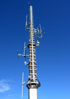Free Anthenne Mast And Sky Stock Photography - 6647542