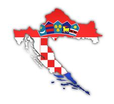 Flag And Map Of Croatia Royalty Free Stock Photo