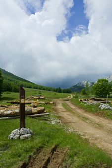 Biking Road In Mountains Stock Photos