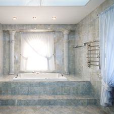 Interior Of A Luxury Bathroom Royalty Free Stock Images