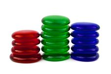 Free Abstract Glass Stacks Royalty Free Stock Photo - 6649485