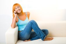 Free Young Woman On Cellphone Royalty Free Stock Photos - 6649678