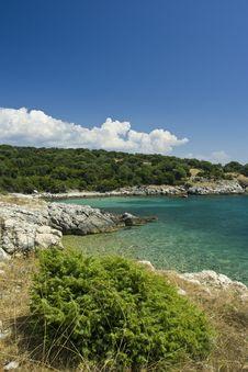 Adriatic Sea Beach, Croatia Stock Photo