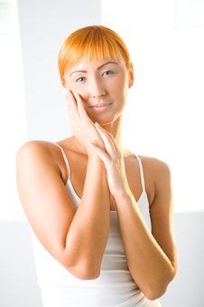 Free Woman Touching Her Skin Royalty Free Stock Image - 6649976