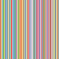 Seamless Rainbow Curved Stripes Color Line Art Vector Background Stock Image