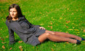 Free Pretty Young Woman In A Autumn Park Stock Photo - 6650900