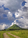 Free Lonely Mountain Under Quaint Clouds In Sunny Day Royalty Free Stock Photo - 6654685
