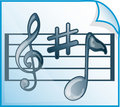 Free Musical Scores Icon Stock Images - 6655654