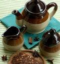Free The Tea Set And The Dry Fruit Tea Royalty Free Stock Photos - 6657108