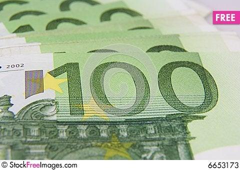 Free 100 Euro Banknote Macro Stock Photos - 6653173