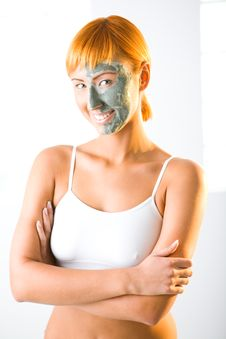 Free Facial Green Mask Royalty Free Stock Photography - 6650307