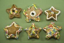 Free Star Christmas Cookies Royalty Free Stock Photo - 6650495
