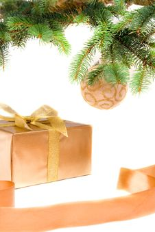 Free Christmas Gift Under The Tree Stock Photos - 6650533