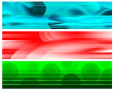 Free Cyan Red White Green Banners Royalty Free Stock Image - 6650736
