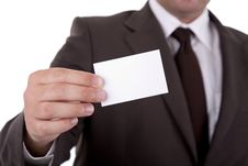 Free Businessman Showing Card Stock Photography - 6650772
