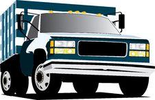 Free Blue Truck Stock Photos - 6650873
