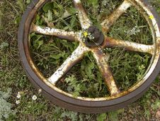 Rusty Old Wheel Stock Image
