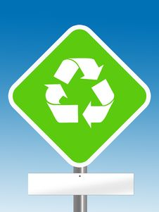 Free Recycle Area With Blank Board Stock Image - 6651451